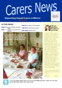 Supporting Unpaid Carers in Merton October 2012