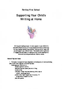 Supporting Your Child s Writing at Home