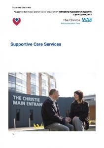 Supportive Care Services