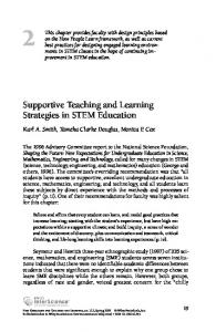 Supportive Teaching and Learning Strategies in STEM Education