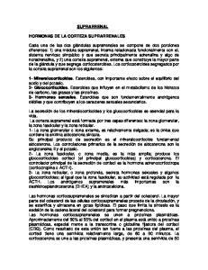 SUPRARRENAL HORMONAS DE LA CORTEZA SUPRARRENALES