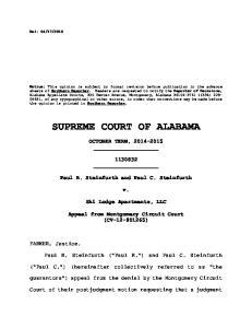 SUPREME COURT OF ALABAMA