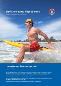Surf Life Saving Rescue Fund (Charitable Investment Scheme)