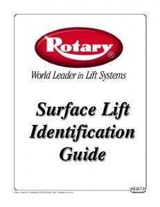 Surface Lift Identification Guide. Entire contents September 1999 by Rotary Lift. All rights reserved. PB