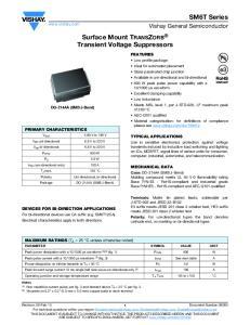 Surface Mount TRANSZORB Transient Voltage Suppressors