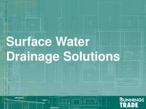 Surface Water Drainage Solutions