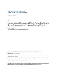 Surface Water Flooding in Urban Areas: Rights and Remedies under the Common-Enemy Doctrine