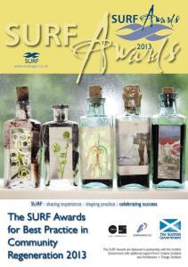 SURFAwards. Awards SURF SURF. SURF : sharing experience : shaping practice : celebrating success