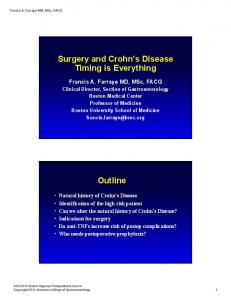Surgery and Crohn s Disease