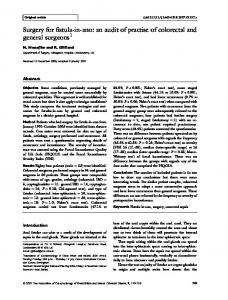 Surgery for fistula-in-ano: an audit of practise of colorectal and general surgeons 1