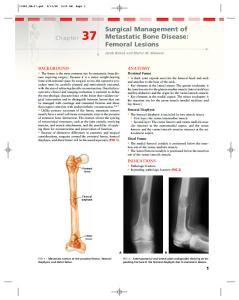 Surgical Management of Metastatic Bone Disease: Femoral Lesions