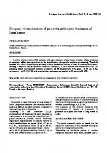 Surgical rehabilitation of patients with open fractures of long bones