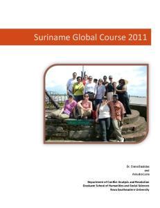 Suriname Global Course 2011