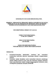 SURUHANJAYA HAK ASASI MANUSIA MALAYSIA