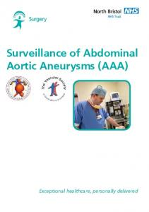 Surveillance of Abdominal Aortic Aneurysms (AAA)