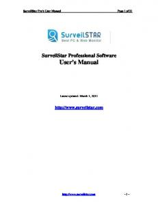 SurveilStar Professional Software User s Manual