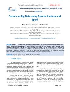 Survey on Big Data using Apache Hadoop and Spark