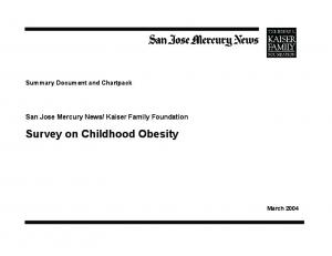Survey on Childhood Obesity