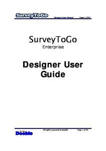 SurveyToGo Enterprise. Designer User Guide