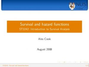 Survival and hazard functions
