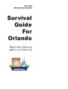 Survival Guide For Orlando