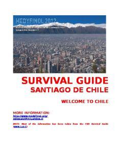 SURVIVAL GUIDE SANTIAGO DE CHILE