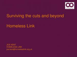 Surviving the cuts and beyond