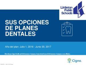 SUS OPCIONES DE PLANES DENTALES