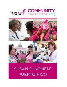 SUSAN G. KOMEN PUERTO RICO
