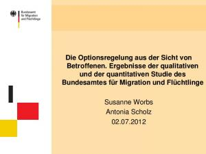 Susanne Worbs Antonia Scholz