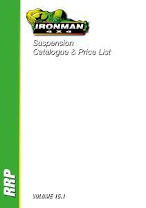 Suspension Catalogue & Price List RRP VOLUME 15.1