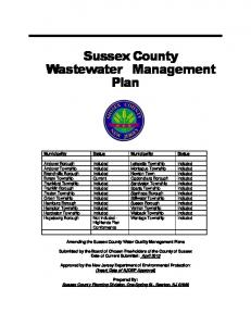 Sussex County Wastewater Management Plan