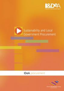 Sustainability and Local Government Procurement