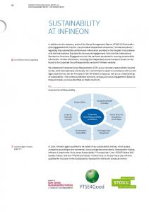 SUSTAINABILITY AT INFINEON