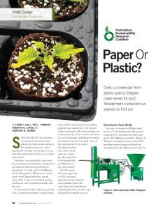 SUSTAINABILITY has become. Paper Or Plastic? Profit Center Sustainable Production