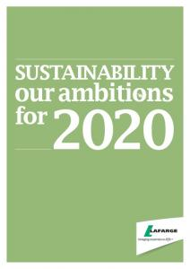 SUSTAINABILITY. our ambitions. for
