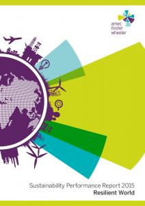 Sustainability Performance Report 2015 Resilient World