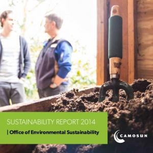 SUSTAINABILITY REPORT Office of Environmental Sustainability