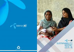 SUSTAINABILITY REPORT TELENOR PAKISTAN