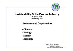 Sustainability & the Process Industry
