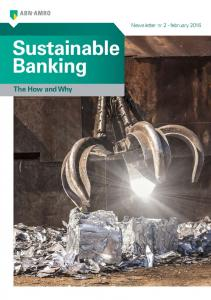 Sustainable Banking The How and Why