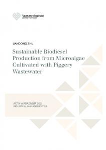 Sustainable Biodiesel Production from Microalgae Cultivated with Piggery Wastewater