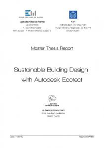 Sustainable Building Design with Autodesk Ecotect