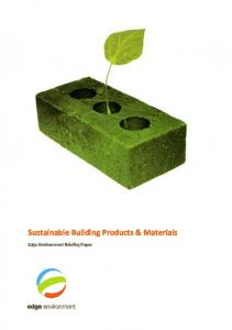 Sustainable Building Products & Materials