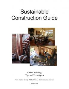 Sustainable Construction Guide