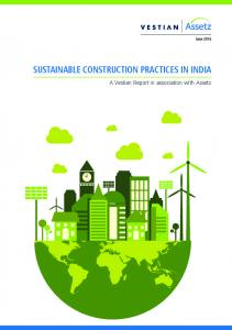 SUSTAINABLE CONSTRUCTION PRACTICES IN INDIA