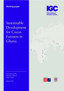 Sustainable Development for Cocoa Farmers in Ghana