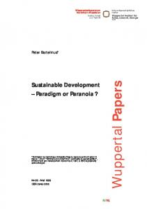 Sustainable Development Paradigm or Paranoia?