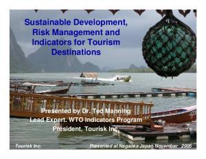 Sustainable Development, Risk Management and Indicators for Tourism Destinations