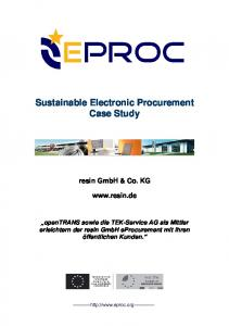 Sustainable Electronic Procurement Case Study